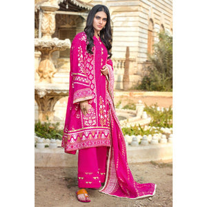Printed With Lace Lawn Unstitched 3 Piece Suit ARZ-05