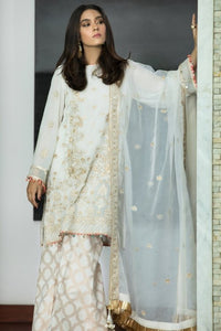 Sapphire Unstitched 3 Piece Embroided Alabaster