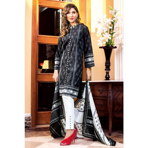 Printed Lawn Unstitched 3 Piece Suit B-64