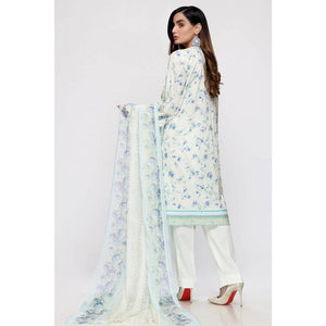 Embroidered Lawn Unstitched 3 Piece Suit BCT-19