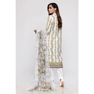 Embroidered Lawn Unstitched 3 Piece Suit BCT-22