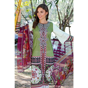 Embroidered Jacquard Unstitched 3 Piece Suit BM-110