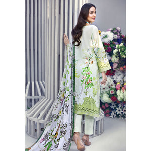 Embroidered Jacquard Unstitched 3 Piece Suit BM-112