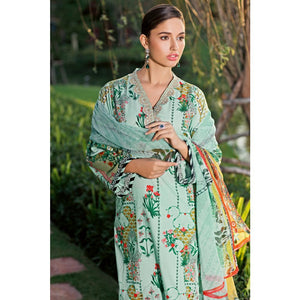 Embroidered Jacquard Unstitched 3 Piece Suit BM-128