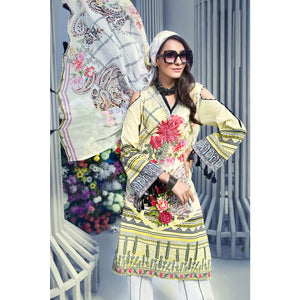Embroidered Jacquard Unstitched 3 Piece Suit BM-129