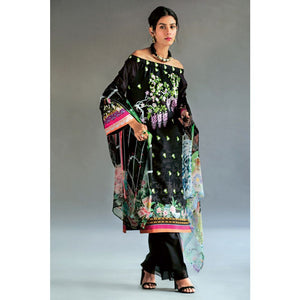 Embroidered Jacquard Unstitched 3 Piece Suit BM-148