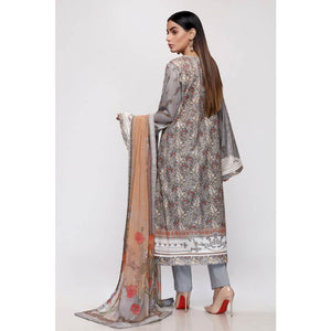 Gul Ahmed Lawn with Chiffon Dupatta Unstitched 3 Piece Suit BM-151