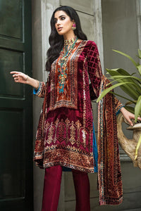 3 PC Unstitched Printed Suit with Nylon Velvet Dupatta BVL-25