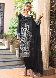 ZS Textile Embroidered Schiffli Stitched 3 Piece Suit BWD-03