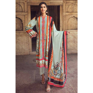 Gul Ahmed Printed Cambric Unstitched 3 Piece Suit CBN-101 A