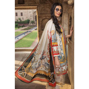 Gul Ahmed Printed Cambric Unstitched 3 Piece Suit CBN-101 B