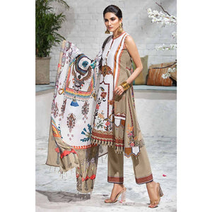 Gul Ahmed Printed Cambric Unstitched 3 Piece Suit CBN-104 B