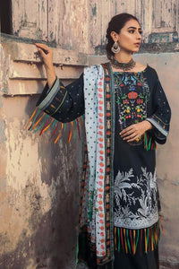 3 PC Unstitched Embroidered Suit with Cotton Net Dupatta CD-40