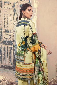 3 PC Unstitched Embroidered Suit with Cotton Net Dupatta CD-43