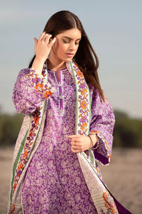 3PC Unstitched Printed Lawn Suit With Argan Oil Finish CL-1029-A