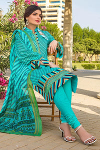 3PC Unstitched Printed Lawn Suit With Argan Oil Finish CL-1080-B
