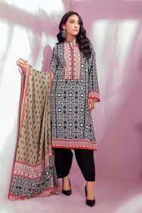 3PC Unstitched Printed Lawn Suit With Silverplus Antibacterial Finish CL-1142-A
