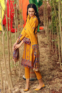 3PC Unstitched Lawn Breeze Finish Suit With Printed Lawn Dupatta CL-1181-B