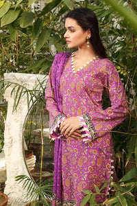 3PC Unstitched Printed Lawn Suit CL-1184-B