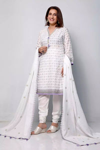 3PC Unstitched Embroidered Lawn Suit With Aloe Vera Finish CL-1206