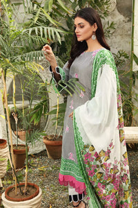 3PC Unstitched Printed Lawn Suit With Silverplus Antibacterial Finish CL-1211-B