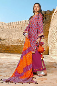3PC Unstitched Chunri Lawn Suit CL-1225-A