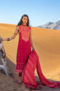 3PC Unstitched Chunri Lawn Suit CL-1242-B