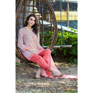 Printed Lawn Unstitched 3 Piece Suit CL-483 B