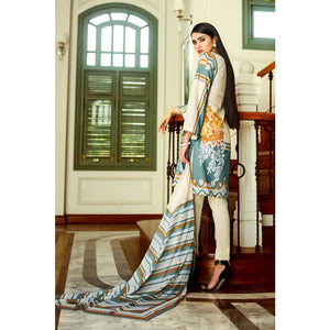 Embroidered Lawn Unstitched 3 Piece Suit CL-506 B