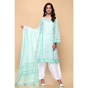 Printed Lawn Unstitched 3 Piece Suit CL-653 B