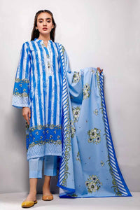 Gul Ahmed 3PC Unstitched Printed Lawn Suit CL-699 A