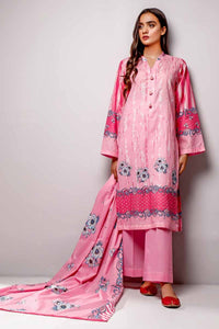 Gul Ahmed 3PC Unstitched Printed Lawn Suit CL-699 B
