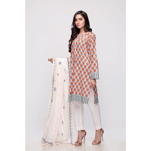 Gul Ahmed Digital Printed Lawn 3 Piece Suit CL-706 B