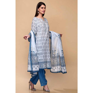 Ready to Wear Gul Ahmed Printed Lawn Stitched 3 Piece Suit CL-707 A