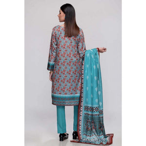 Printed Lawn Unstitched 3 Piece Suit CL-708 B