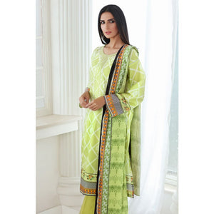 Embroidered Lawn Unstitched 3 Piece Suit CL-721 A