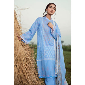 Embroidered Lawn Unstitched 3 Piece Suit CL-734 A