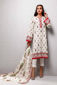 Gul Ahmed 3PC Unstitched Printed Lawn Suit CL-740 A