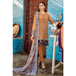 Embroidered Lawn Unstitched 3 Piece Suit CL-742 A