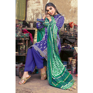 Printed Lawn Unstitched 3 Piece Suit CL-747