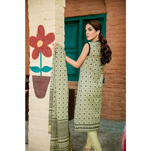 Printed Lawn Unstitched 3 Piece Suit CL-776 A