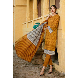 Printed Lawn Unstitched 3 Piece Suit CL-779 B