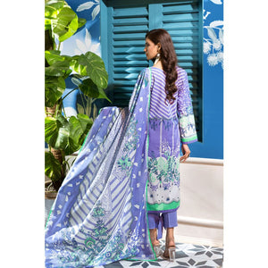 Embroidered Lawn Unstitched 3 Piece Suit CL-793 B