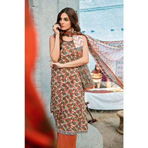 Printed Lawn Unstitched 3 Piece Suit CL-802 A
