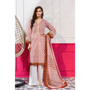 Embroidered Lawn Unstitched 3 Piece Suit CL-827 A