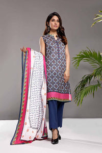 Gul Ahmed 3PC Unstitched Printed Lawn Suit CL-866