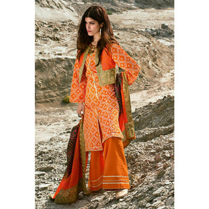 Printed Lawn Unstitched 3 Piece Suit CL-871