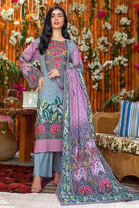 Gul Ahmed 3PC Unstitched Printed Lawn Suit CLP-43