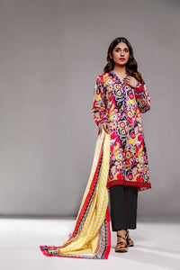 Gul Ahmed Printed Lawn Unstitched 3 Piece Suit CL-865