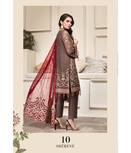 Jazmin Amerrati Luxury Chiffon 2020 Embroidered 3Pc Suit D-10 Sherene